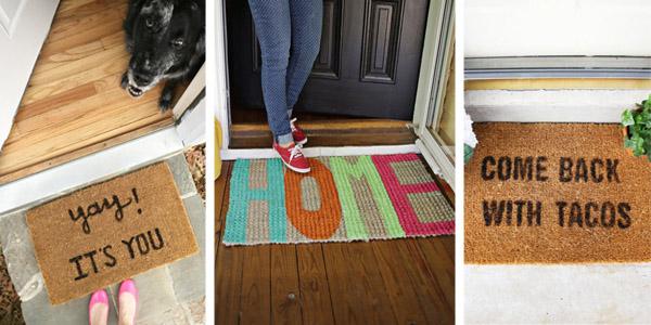 Fun DIY Doormats & Welcome Mats