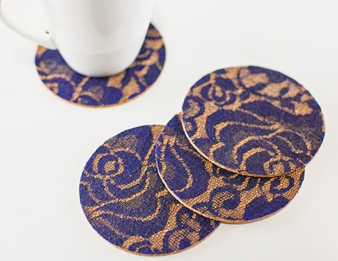 Lacy & Sophisticated DIY Coasters