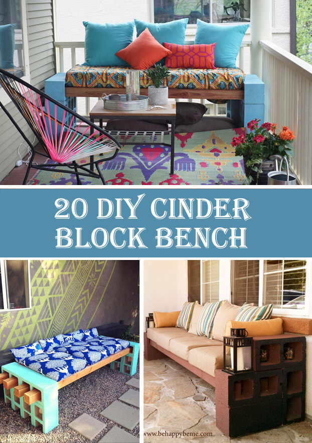 20 Gorgeous DIY Cinder Block Bench