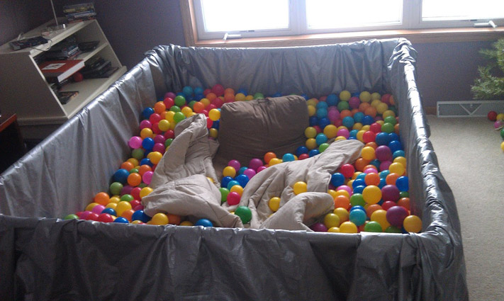 DIY Ball Pit for Adults