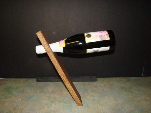 DIY Floating Wine Bottle Holder
