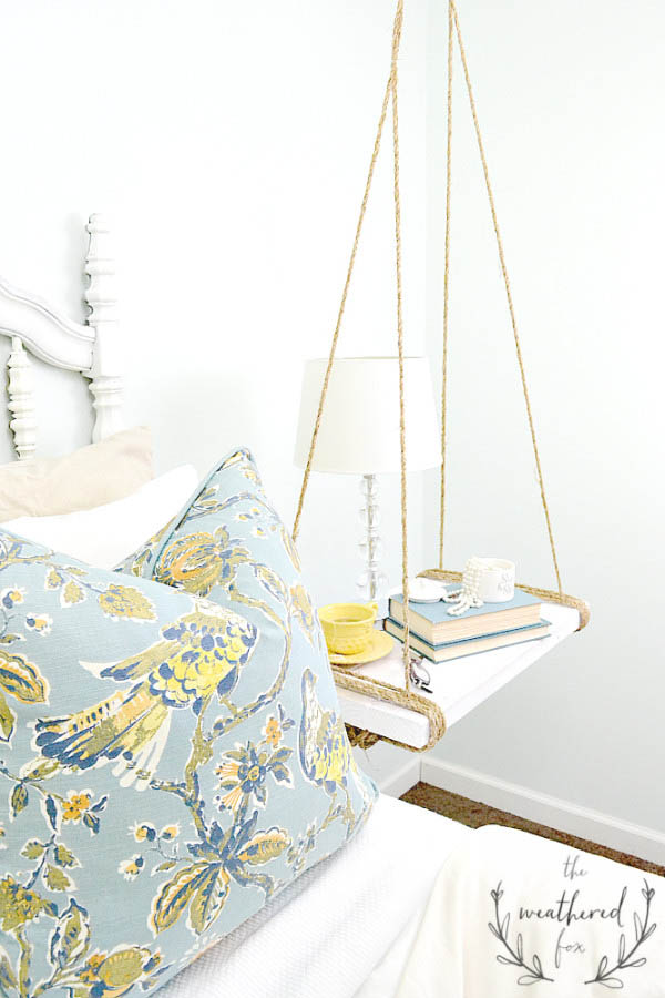 DIY Hanging Nightstand