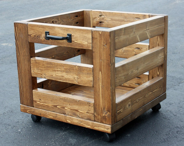 DIY Industrial Storage Crate