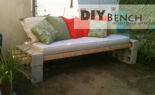 DIY Outdoor Bench by KaylasBasement