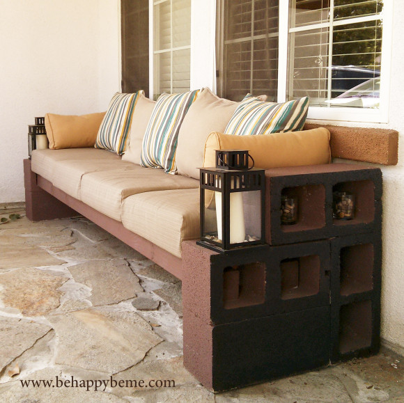 DIY Outdoor Seating by BeHappyBeMe