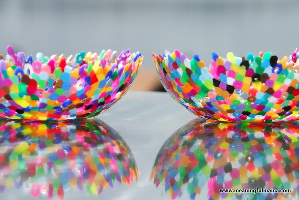 DIY Plastic Perler Bead Bowls
