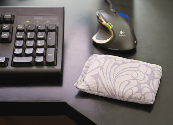 DIY Rice Filled Mouse Wrist Rest