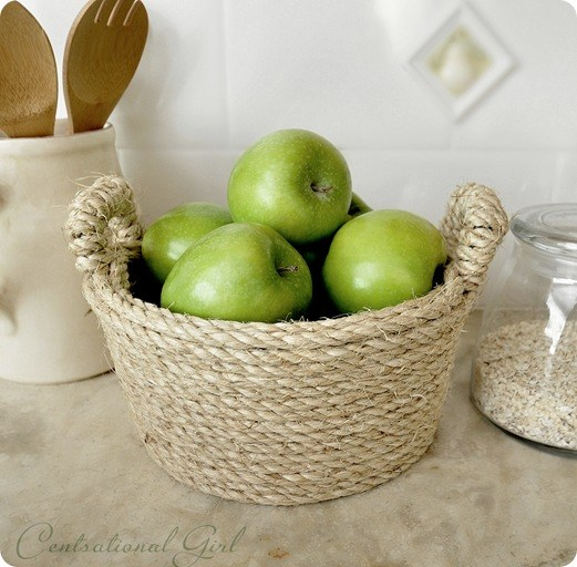 DIY Sisal Rope Bowl