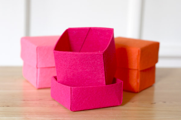 DIY Stiffened Felt Boxes