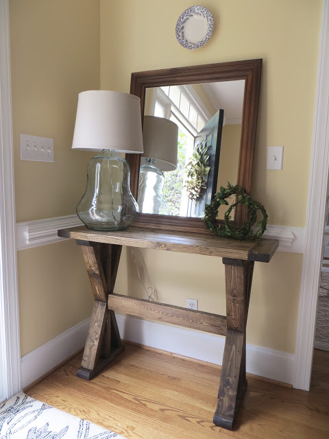 DIY 'X' Entryway Table