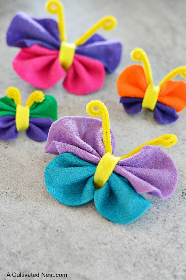 Easy No-Sew Felt Butterfly Craft