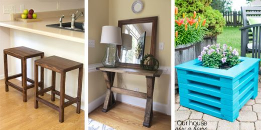 Woodworking Projects Made Entirely with 2x4s