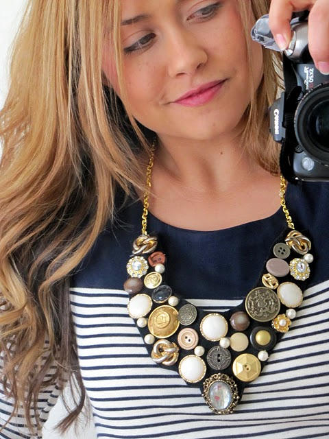 DIY Button Bib Necklace