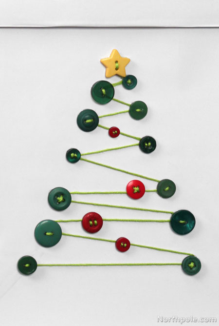 DIY Button Christmas Tree