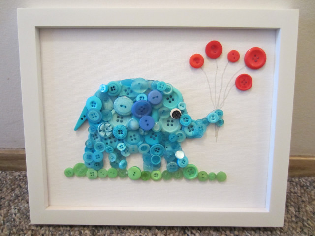 DIY Button Elephant