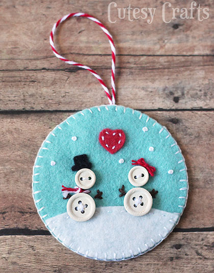 DIY Button & Felt Ornaments