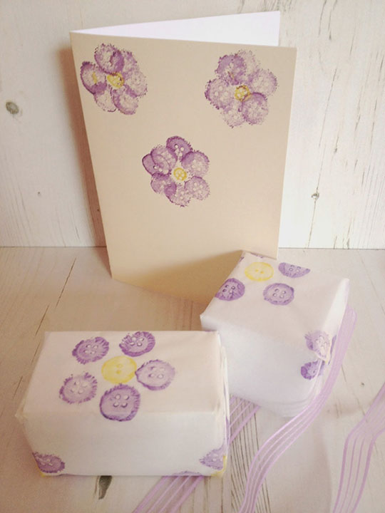 DIY Button Flower Stamps