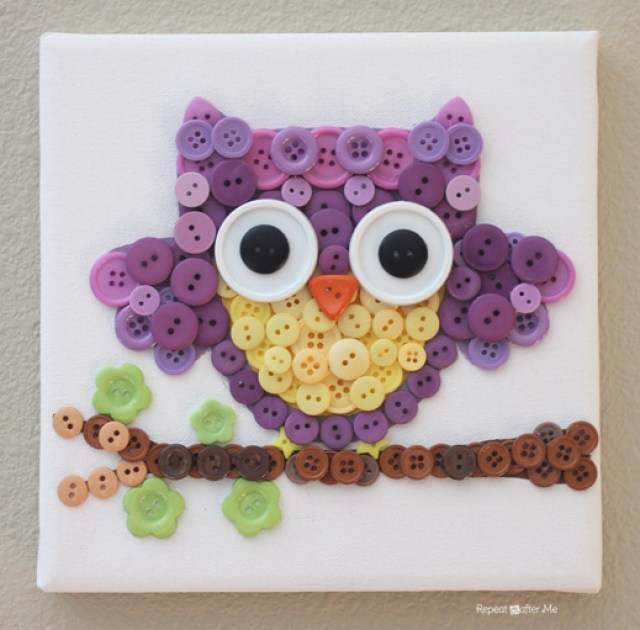 DIY Button Owl