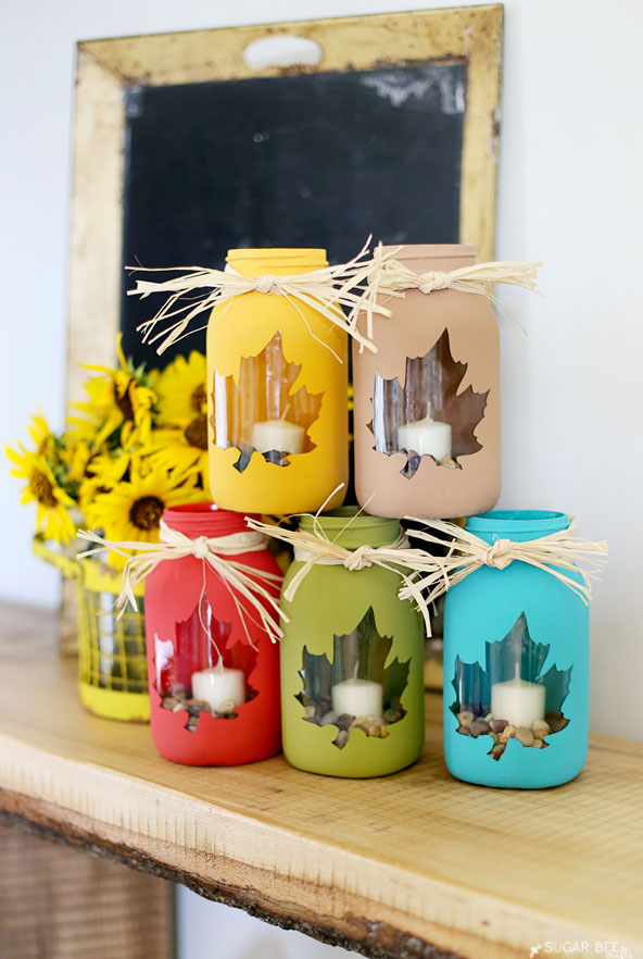 DIY Fall Mason Jar Craft