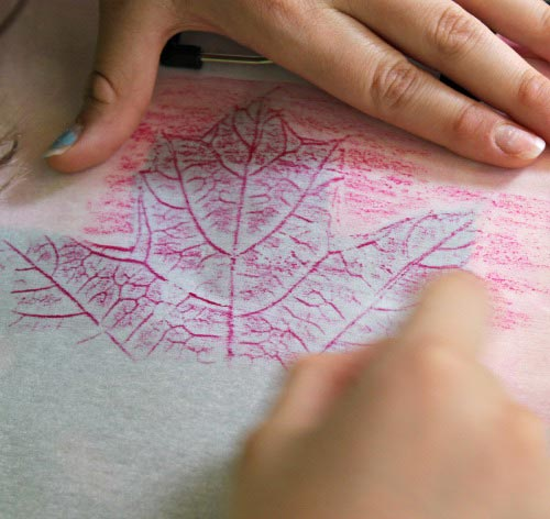 DIY Leaf Rubbing Art