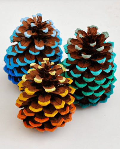 DIY Ombre Pinecone