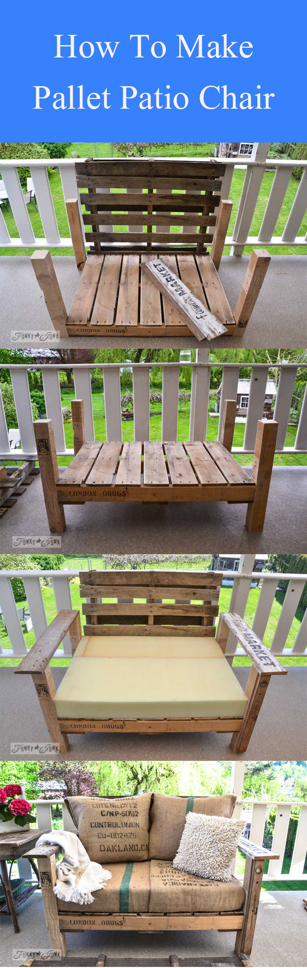 DIY Pallet Patio Chair