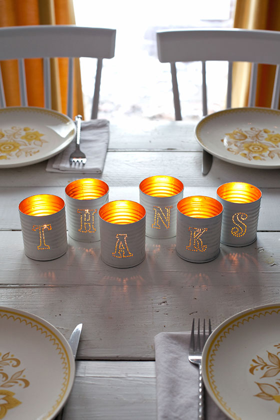 DIY Tin Punched Votive Candles