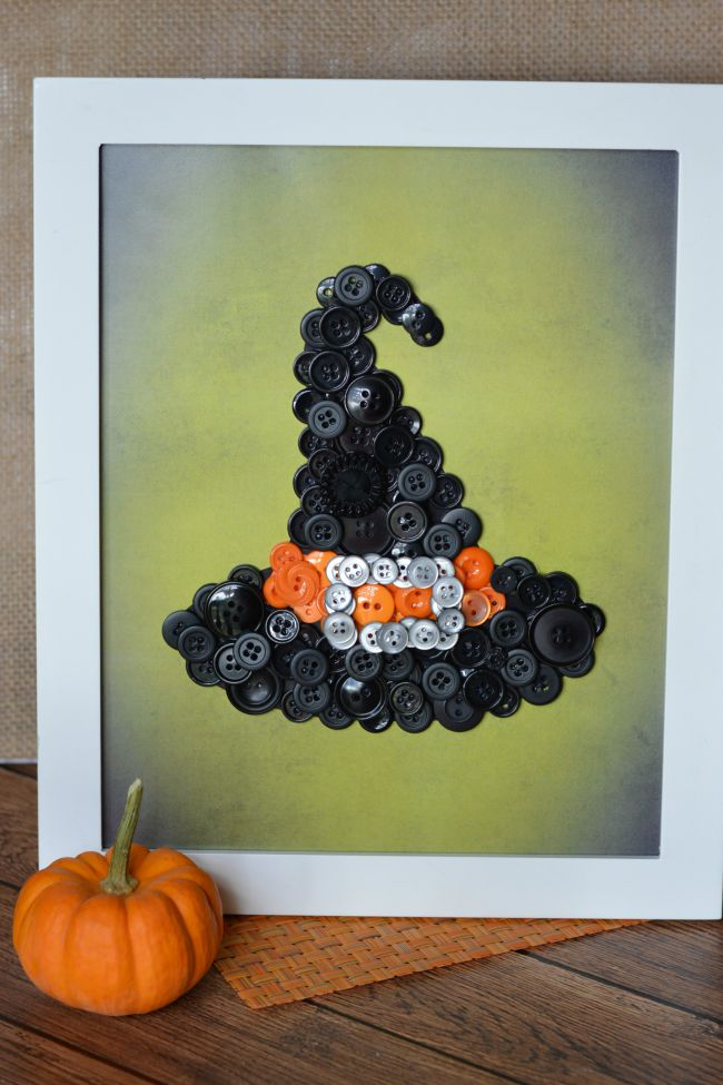 DIY Witch Hat Button Craft