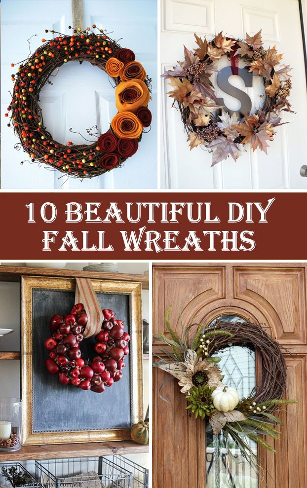 10 Beautiful DIY Fall Wreaths