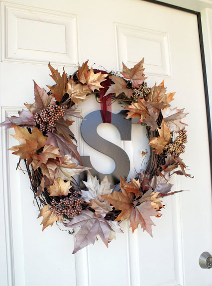 DIY Fall Wreath by FrugalFlourish