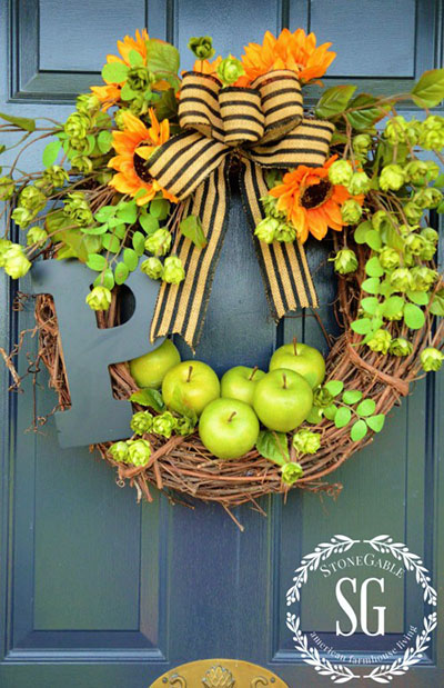 DIY Fall Wreath by StoneGable