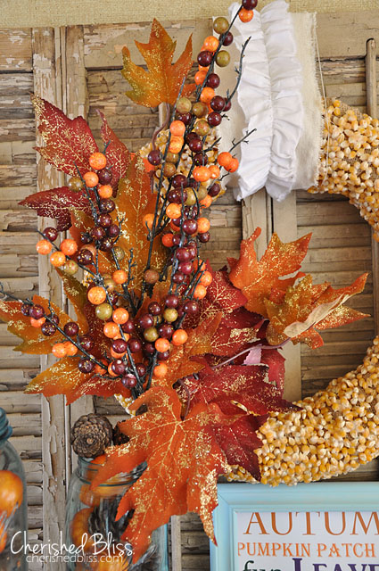 DIY Popcorn Kernel Wreath by CherishedBliss