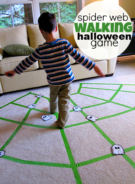 Spider Web Walking Halloween Game